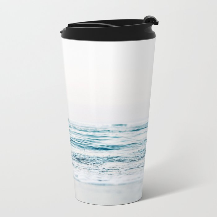 turquoise waves Metal Travel Mug