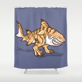 Darwin the Shark Shower Curtain