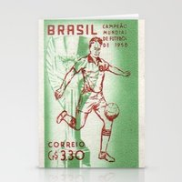 soccer Stationery Cards featuring Soccer king by Irène Sneddon