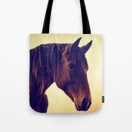 Western horse in porträit Tote Bag