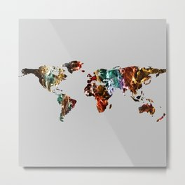 There's a world out there - grey background Metal Print
