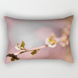 Buds on a Tree with Bokeh Rectangular Pillow