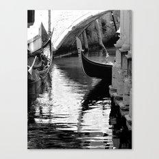 Gondolas in black and white Canvas Print