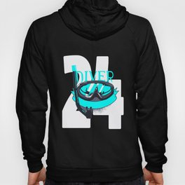 Scuba Diving 24th Birthday Diver 24 Years Gift Hoody