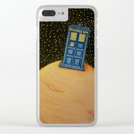 Tardis Takeover Clear iPhone Case