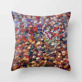 Blue Snow_2 Throw Pillow