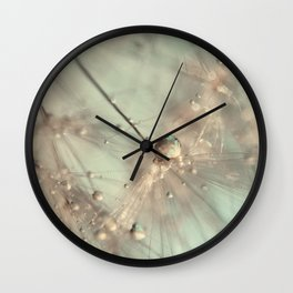 dandelion mint Wall Clock