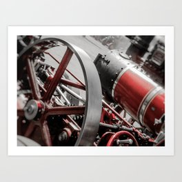 Miniature Traction Engine bywhacky Art Print