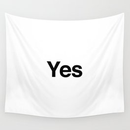 Yes Wall Tapestry