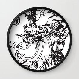Oriental Dragon Line Art Wall Clock