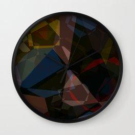 Deep Space Polygons Wall Clock