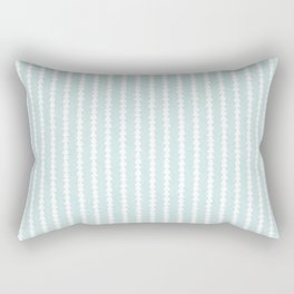 Tiny Triangles Stripe in Mint Rectangular Pillow