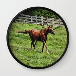 Horse on the Run Wall Clock