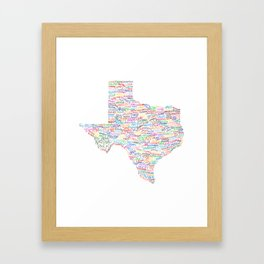 Where Y'all From? Framed Art Print