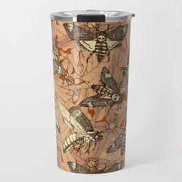 Death's-head hawkmoth rust Travel Mug
