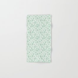 Rocco bloom green and white Hand & Bath Towel