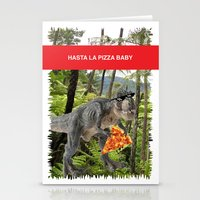 trex Stationery Cards featuring PIZZA TREX!! by anthonykun