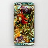 metallic iPhone & iPod Skins featuring Metallic by Vargamari