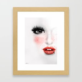 KissMe Framed Art Print