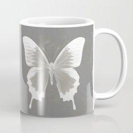Butterfly on grunge surface Coffee Mug
