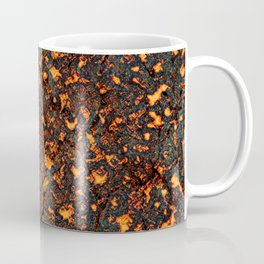 A texture of lava. A raster illustration. Coffee Mug