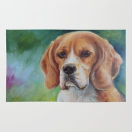 BEAGLE Dog portrait Rug