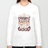 risa rodil Long Sleeve T-shirts featuring I am up to no good by Risa Rodil