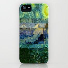 Starry Night Glitch iPhone Case