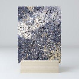 Orion - Jackson Pollock style abstract drip painting by Rasko Mini Art Print