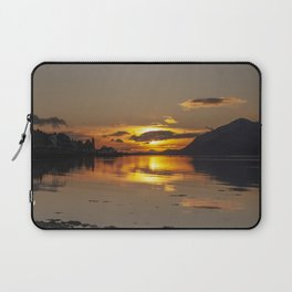 Golden Hour at Loch Linnhe and Fort William Laptop Sleeve