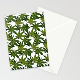 Cannabis Leaf - White Stationery Cards