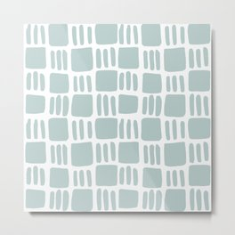 Abstract squares - blue gray Metal Print