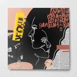 Grunge Portrait Collage Metal Print