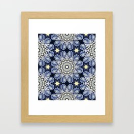 Night Star Mudejar Framed Art Print