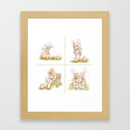 Bunny and Chick Framed Art Print