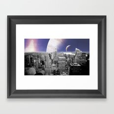 New New York : Galaxy City Framed Art Print