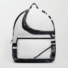 Headlight, Hood Of A Car Black White Backpack