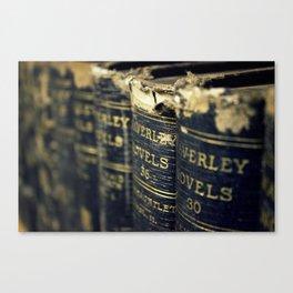 Waverly Novels Vintage Books Canvas Print