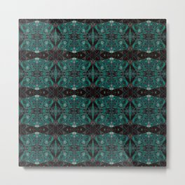 The Watch Links- Teal and Black Art Deco  Metal Print