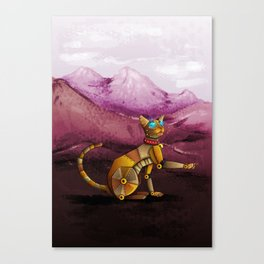 Steam kitty Canvas Print