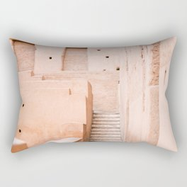 Colors of Marrakech Morocco - El badi palace photo print | Pastel travel photography art Rectangular Pillow