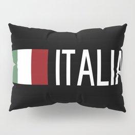 Italy: Italia & Italian Flag Pillow Sham