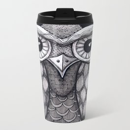 Owl II Metal Travel Mug