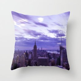 City at Sunset Throw Pillow