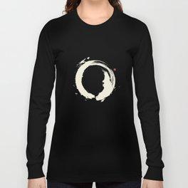 Black Enso / Japanese Zen Circle Long Sleeve T-shirt
