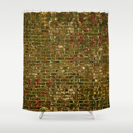 Grunge Wall Of Gold One Shower Curtain