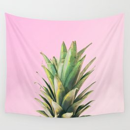 Pineapple Pink Wall Tapestry