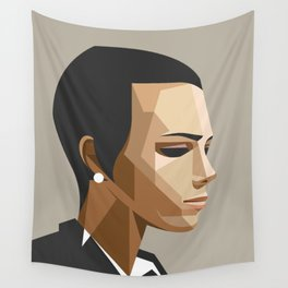 Office girl Wall Tapestry