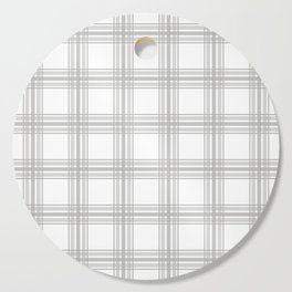 Farmhouse Plaid in Gray and White Cutting Board
