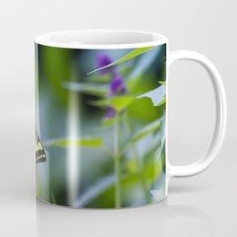 Butterfly on a Purple Flower Coffee Mug